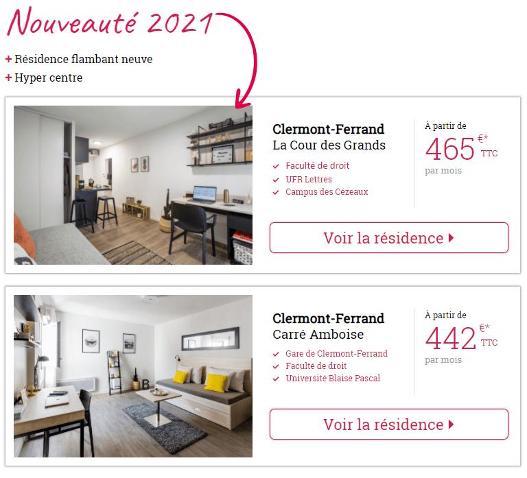 Louez votre logement étudiant à Clermont-Ferrand